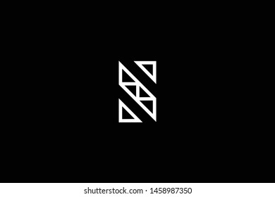 Outstanding professional elegant trendy awesome artistic black and white color S SZ ZS initial based Alphabet icon logo.