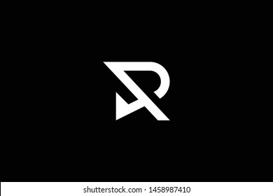 Outstanding professional elegant trendy awesome artistic black and white color R RP PR RD DR PD DP initial based Alphabet icon logo.