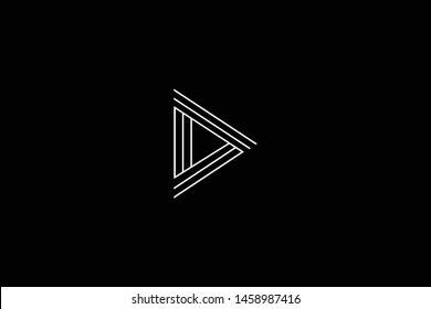 Outstanding professional elegant trendy awesome artistic black and white color D DD DDD initial based Alphabet icon logo.