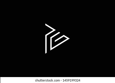 Outstanding professional elegant trendy awesome artistic black and white color PG GP initial based Alphabet icon logo.