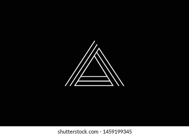 Outstanding professional elegant trendy awesome artistic black and white color A AA AAA initial based Alphabet icon logo.