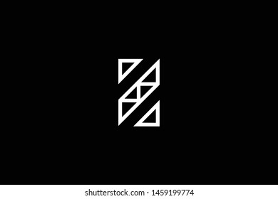 Outstanding professional elegant trendy awesome artistic black and white color Z ZS SZ initial based Alphabet icon logo.