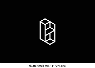 Outstanding professional elegant trendy awesome artistic black and white color HS SH initial based Alphabet icon logo.