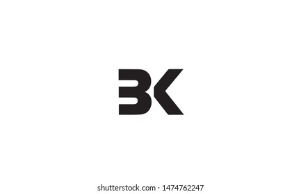 Outstanding professional elegant trendy awesome artistic black and gold color K B KB BK initial based Alphabet icon logo.