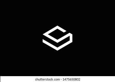 Outstanding professional elegant trendy awesome artistic black and white color S SV VS SM MS initial based Alphabet icon logo.