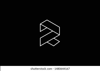 Outstanding professional elegant trendy awesome artistic black and white color R RR DR RD initial based Alphabet icon logo.