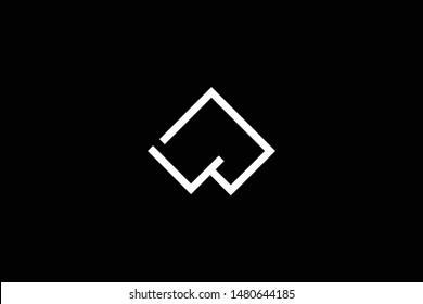 Outstanding professional elegant trendy awesome artistic black and white color WP PW initial based Alphabet icon logo.