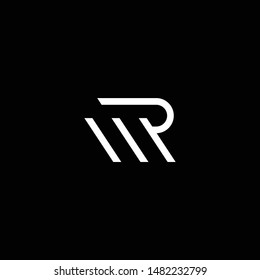 Outstanding professional elegant trendy awesome artistic black and white color RM MR PM MP RW WR PW WP initial based Alphabet icon logo.