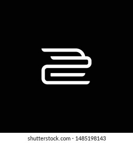 Outstanding professional elegant trendy awesome artistic black and white color ZB BZ initial based Alphabet icon logo.