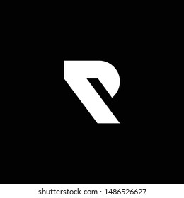 Outstanding professional elegant trendy awesome artistic black and white color R P PR RP initial based Alphabet icon logo.