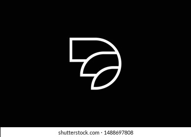 Outstanding professional elegant trendy awesome artistic black and white color D ED DE initial based Alphabet icon logo.
