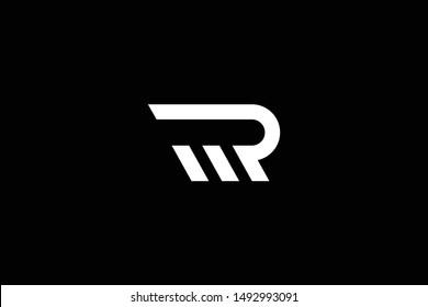 Outstanding professional elegant trendy awesome artistic black and white color RM MR PM MP initial based Alphabet icon logo.