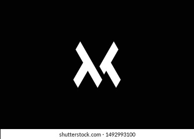 Outstanding professional elegant trendy awesome artistic black and white color TT MV VM initial based Alphabet icon logo.
