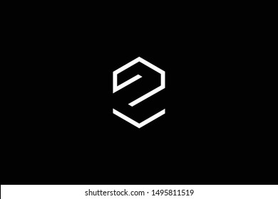Outstanding professional elegant trendy awesome artistic black and white color Z ZV VZ initial based Alphabet icon logo.