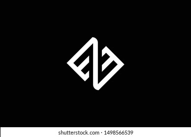 Outstanding professional elegant trendy awesome artistic black and white color EZ ZE EZM MZ initial based Alphabet icon logo.