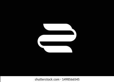 Outstanding professional elegant trendy awesome artistic black and white color Z ZE EZ initial based Alphabet icon logo.
