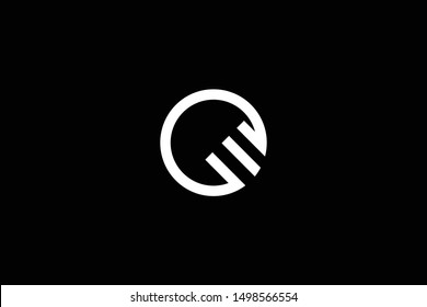 Outstanding professional elegant trendy awesome artistic black and white color OM MO OW WO CM MC CW WC initial based Alphabet icon logo.