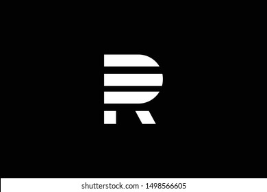 Outstanding professional elegant trendy awesome artistic black and white color R RP PR RD DR initial based Alphabet icon logo.