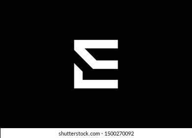 Outstanding professional elegant trendy awesome artistic black and white color E EC CE LE EL LC CL initial based Alphabet icon logo.