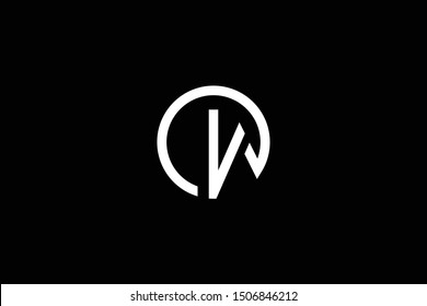 Outstanding professional elegant trendy awesome artistic black and white color OW WO initial based Alphabet icon logo.