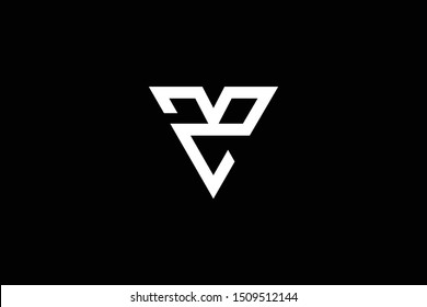 Outstanding professional elegant trendy awesome artistic black and white color MZ ZM MD DM initial based Alphabet icon logo.