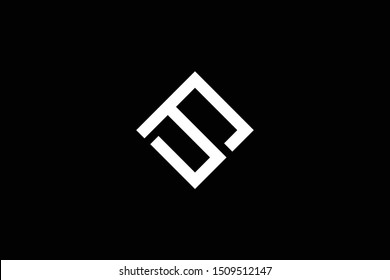Outstanding professional elegant trendy awesome artistic black and white color PS SP initial based Alphabet icon logo.