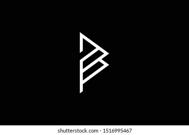 Outstanding professional elegant trendy awesome artistic black and white color P PP PB BP initial based Alphabet icon logo.