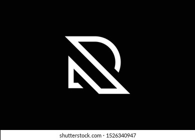 Outstanding professional elegant trendy awesome artistic black and white color R RR RD DR PR RP initial based Alphabet icon logo.