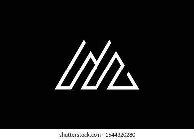 Outstanding professional elegant trendy awesome artistic black and white color M MM MZ ZM initial based Alphabet icon logo.