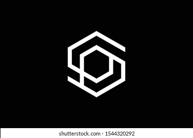 Outstanding professional elegant trendy awesome artistic black and white color S SP PS initial based Alphabet icon logo.
