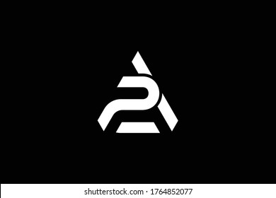 Outstanding professional elegant trendy awesome artistic black and white color AP PA initial based Alphabet icon logo.