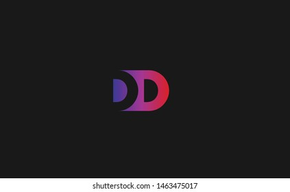 Outstanding professional trendy awesome artistic colorful D DD  initial based Alphabet icon logo