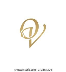 OV initial monogram logo