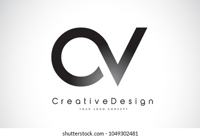 OV O V Letter Logo Design in Black Colors. Creative Modern Letters Vector Icon Logo Illustration.