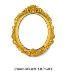 oval baroque gold picture frame