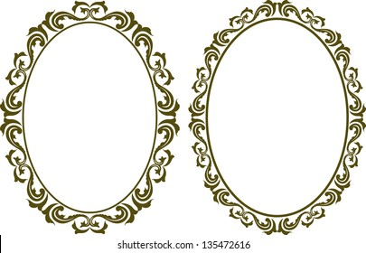 Vintage Oval Border Images Stock Photos Vectors