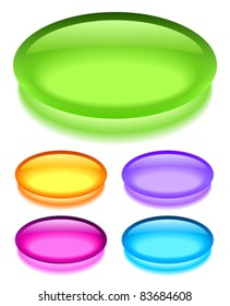 Oval glass buttons, eps10 illustration