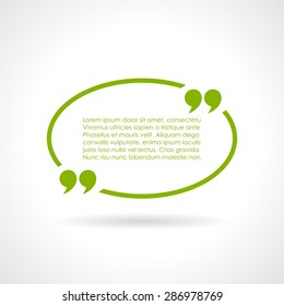 Oval quote textbox