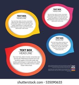 Oval text box set