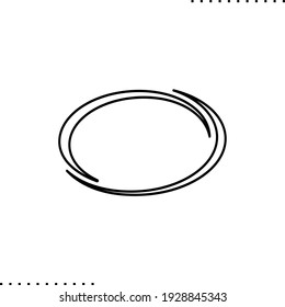 oval vector icon in outlines