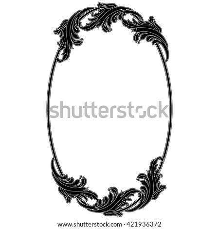 mirror frame drawing. Oval Vintage Frame Oval Mirror Border Decorative Invitation  Jpg 450x470 Png Filigree Drawing