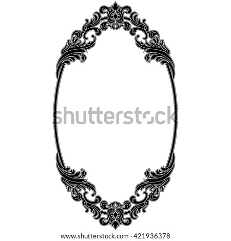 Oval Vintage Frame Oval Mirror Oval Stock Vector (Royalty Free ...