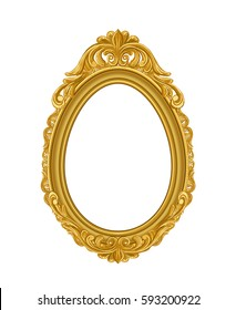 oval vintage gold picture frame