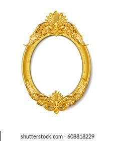 oval vintage gold picture frame