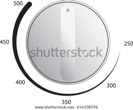 Oven Dial Vector Temperature Measurements Stock Vector Royalty Free