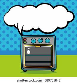 oven doodle, speech bubble