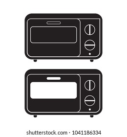 Oven icon Vector Illustration. Flat Sign isolated on White Background.