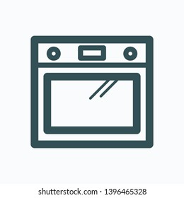 Oven isolated icon, built-in cooker oven outline icon