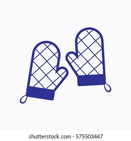 Oven Mitt Icon. Graphic Vector Symbol Outline Style Design. Use for App, Web, Mobile and Everything