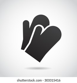 Oven mitts icon isolated on white background. Vector art.